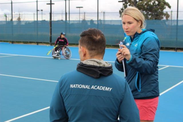 The Hub is linked with Tennis Australia and receives great support from Holly Tawse
