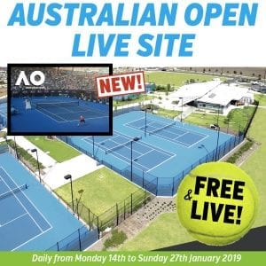 Hume Tennis Centre To Host Interactive Australian Open Live Site